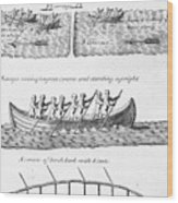 Iroquois Canoes Wood Print