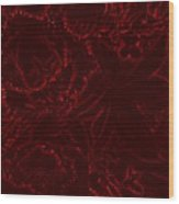Irridescent Red Wood Print