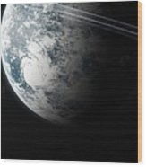 Irrom Space Planets Moons Stars 100200 3840x1200 Wood Print