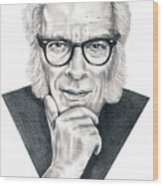 Isaac Asimov Wood Print