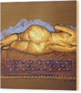 Isabel On Afghan Carpet- Back Wood Print