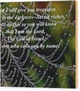 Isaiah Scripture  Wood Print
