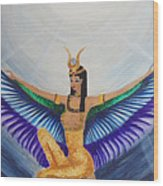 Isis Wings Wood Print