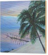 Isla Morada Sunset Wood Print