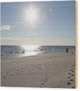 Island Beachwalkers Wood Print