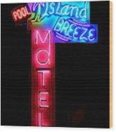Island Breeze Motel Wood Print