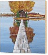 Island Cabin 2 Wood Print