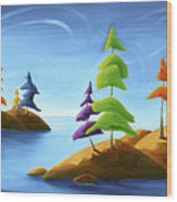 Island Carnival Wood Print