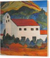 Island Church Wood Print
