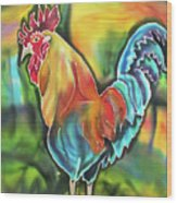 Island Cock Wood Print