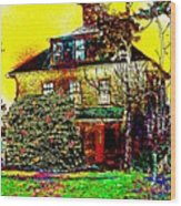 Island Cottage Wood Print
