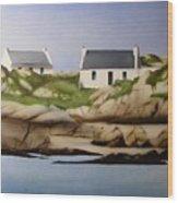 Island Cottages Wood Print