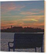 Island Estates Sunrise Wood Print