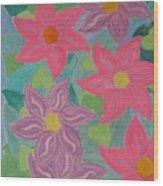 Island Flowers Wood Print
