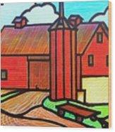 Island Ford Barn 2 Wood Print