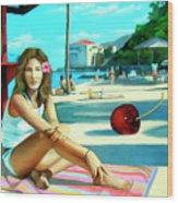 Island Girl Wood Print