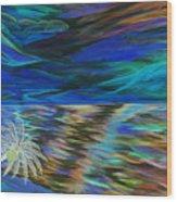 Island High Inverted Colours Wood Print