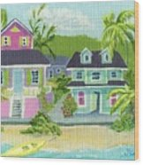 Island Houses Wood Print