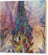 Island Lupin 6 Wood Print