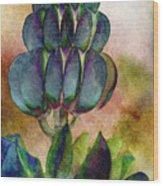 Island Lupin Wood Print
