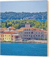Island Of Krapanj Waterfront View Wood Print