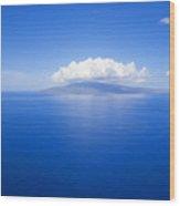 Island Of Lanai Wood Print