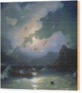 Island Of Patmos 1854 116h190 Ivan Konstantinovich Aivazovsky Wood Print