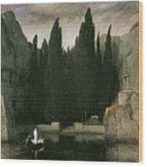 Island Of The Dead Wood Print