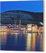 Island Of Vis Evening View Wood Print