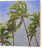 Island Palms Wood Print