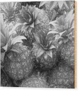 Island Pineapples Wood Print