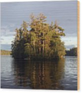 Island Reflections Wood Print