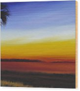 Island River Palmetto Wood Print