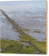 Island Sylt - Mudflat Wood Print by Marc Huebner