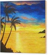 Island  Viewing Wood Print