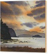 Islands Autumn Sky Wood Print