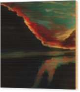 Fire Sky Wood Print by Marie Bulger
