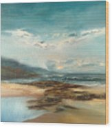 Islay Beach Wood Print