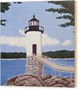 Isle Au Haut Lighthouse Wood Print