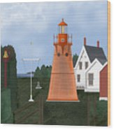 Isle La Motte Vermont Lighthouse Wood Print