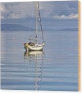 Isle Of Colonsay, Scotland Sailboat On Wood Print