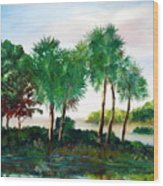 Isle Of Palms Wood Print by Phil Burton