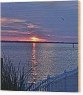 Isle Of Wight Bay Sunset Wood Print