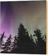 Isle Royale Aurora  Wood Print