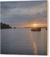 Isle Royale Bell Isle Sunrise  Wood Print