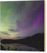 Isle Royale Pickerel Cove Aurora Wood Print