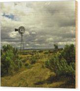 Isolated Windmill Wood Print
