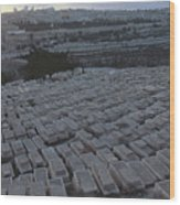 Israel, Jerusalem Mount Of Olives Wood Print