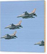 Israeli Air Force F-16  Wood Print