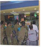 Israeli Soldiers Stop At A Kosher Mcdonald's Wood Print